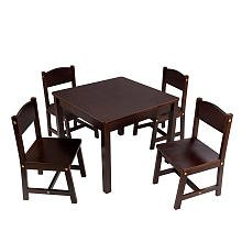 KidKraft Farmhouse Table and Chair Set Espresso