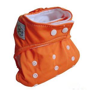 Baby City Adjustable Pocket Cloth Diaper (Orange)