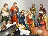Large 12-Piece Outdoor Christmas Nativity Set Yard Art Decoration