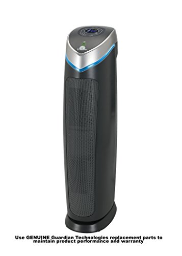 GermGuardian AC5250PT 3-in-1 Pet Pure True HEPA Air Purifier System UV Sanitizer and Odor Reduction, 28-Inch Digital Tower (Air Purifier Pure compare prices)