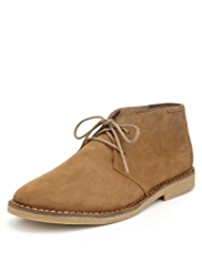 Blue Harbour Waxed Leather Desert Boots