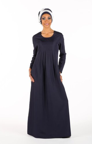 Pleated Plain Basic Abaya, Black, 3XL