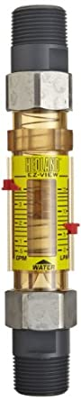 "Hedland H629-628-R EZ-View Flowmeter With Sensor, Polyphenylsulfone, For Use With Water, 4.0 - 28 gpm Flow Range, 1"" NPT Male"