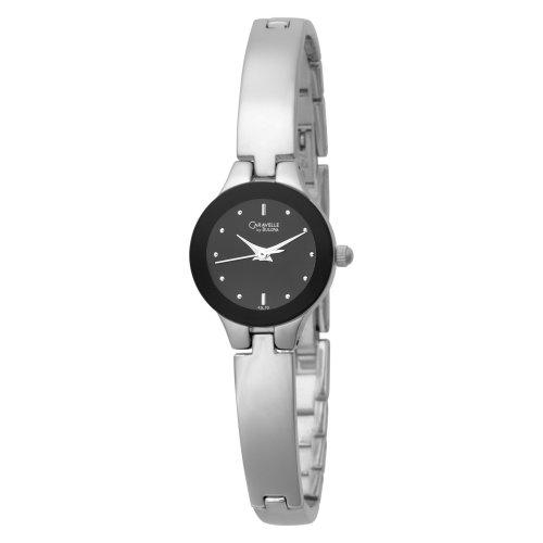 Caravelle by Bulova Women's 43L70 Bangle Bracelet Black Dial Watch