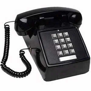 Cortelco  (ITT-2500-MD-BK) Single Line Desk Telephone