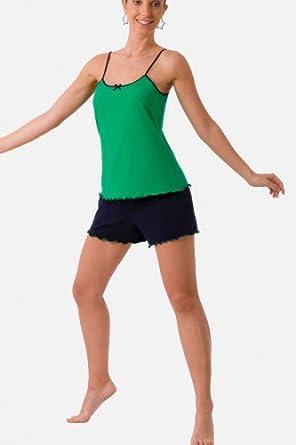 Soft Lightweight Breathable Cotton Sleepwear Pajamas Set Emerald Green Extra Large