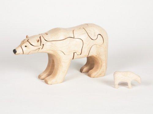 Cheap Class Menagerie Wooden 3-D Puzzle – Polar Bear with Baby Polar Bear Inside, Maple (B002GDE0QE)