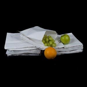 "Greaseproof Paper Bags - 8.5"" x 8.5"" - (1 pack = 100 bags)"