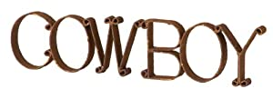 Wilco Imports Rusty Metal Sign Cowboy