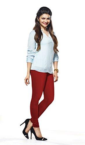 Lux-Lyra-Womens-Parry-Red-Churidar-Leggings