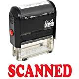 SCANNED Self Inking Rubber Stamp - Red Ink (42A1539WEB-R)