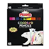 Prang Thick Core Colored Pencil Set, 3.3 Millimeter Cores, 7 Inch Length, 50 Pencils, Assorted Colors (22480)