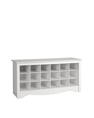 Prepac Shoe Cubbie Bench, White