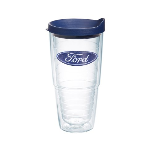 Tervis Tumbler with Navy Lid, 24-Ounce, Ford Logo (Tervis Lids Navy compare prices)