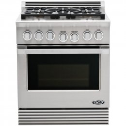 "Dcs Rgu-305-N 30"" Freestanding Gas Range With 5 Burners, 4.6 Cu. Ft. Capacity Convection Oven, Telescopic Rack System, Electronic Ignition, In Stainless Steel (Natural Gas)"