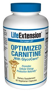 Life Extension Optimized Carnitine with GlycoCare, 60 vcap ( Multi-Pack)
