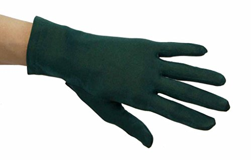 [Super Smooth Nylon Lycra Wrist Length Gloves, Hunter Green] (Church Choir Costumes)