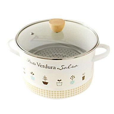 7 QT Enamel Soup pots L21cm x W21cm x H19cm BOYI B00TEMZ276