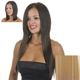 Blonde Mix 18 inch 45cm Full Head Straight Clip Hair Extensions | Haet Style-able Hair-like fibre.