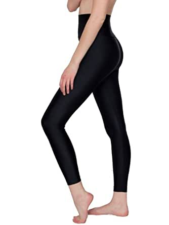 American Apparel Nylon Tricot High-Waist Leggings - Black / XS