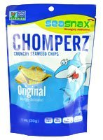 SEASNAX Chomperz Original Crunchy Seaweed Chips - 1 OZ - CS x8