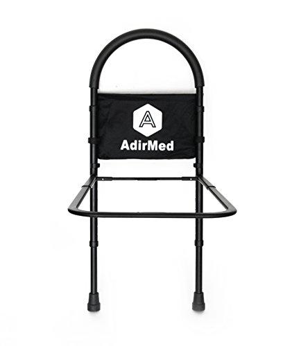 Adjustable height bed for elderly : Adirmed height adjustable slip resistant home bed rail
