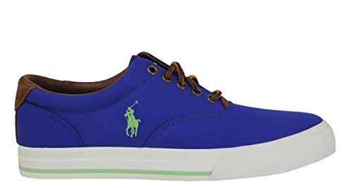 Polo Ralph Lauren Men's Vaughn Fashion Sneaker,Rugby Royal/Racing Green,8 D US
