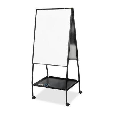 Balt Double-Sided Magnetic Easel, 28-3/4 by 27 by 59-1/2-Inch, Black