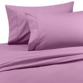 600 Thread Count Egyptian Cotton 600TC Sheet Set, Queen, Lavender Solid 600 TC