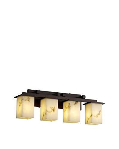 Justice Design Group LumenAria Montana 4-Light Vanity Light, Dark Bronze/Alabaster