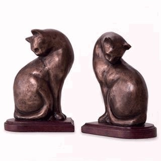 Cat Bookends Pair - NOW 20% Off