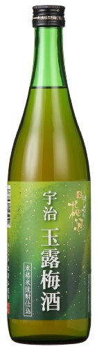 Japanese Umeshu Plum Wine with Green Tea from Kyoto, 72cl