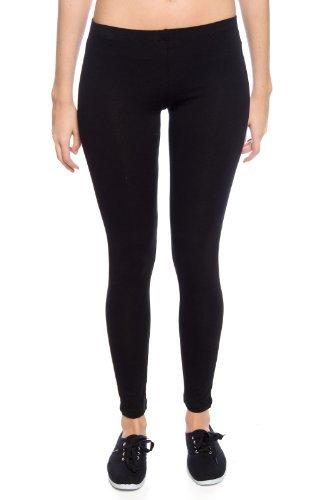 zenana-womens-cotton-spandex-leggings-black-s