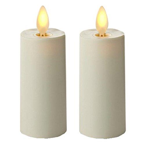 Luminara Votive Candle Set of 2 Ivory Moving Wick Candles 1.5