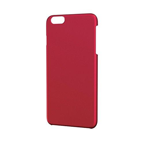 ELECOM iPhone6 Plus シェルカバー ラバー レッド PM-A14LPVRRD