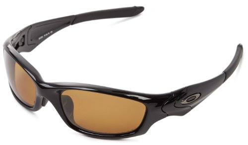 Oakley mens Straight Jacket 26-255J Polarized Sport Sunglasses,Polished Black,55 mm