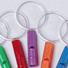Whistle Magnifying Glasses-12 pieces assorted colors