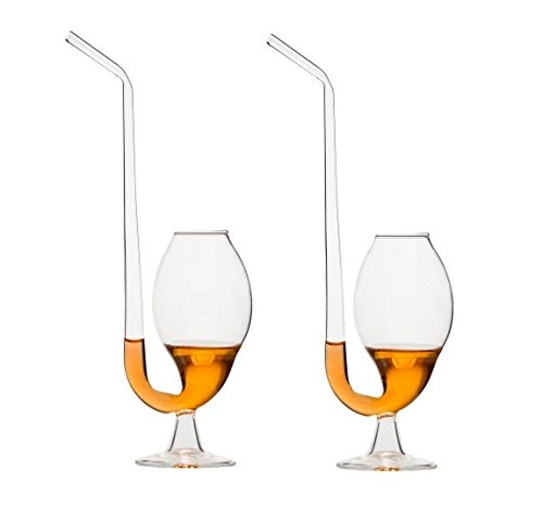 Uni-Clear Footed Brandy Pipe set of 2