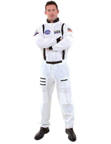 Adult-Costume Astronaut Mens Std White Halloween Costume - Most Adults