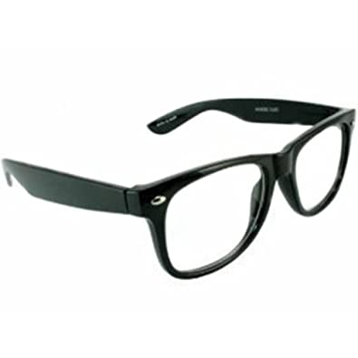 Wayfarer Black Clear Lens