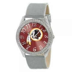 Washington Redskins NFL Glitz Feminine Silver Watch Bracelet - Ladies Sports Fashion... by NFL