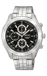 Seiko Sport Chronograph Black Dial Men's watch #SNDC37