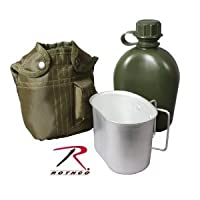 Rothco Canteen / Cup Kit with Cover in Olive Green by Rothco
