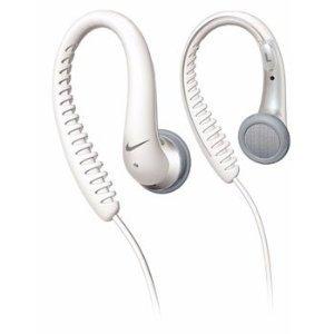 Nike Sport Flow Ear Hook Headphones White by Phillips