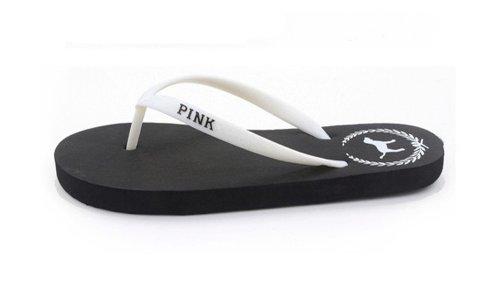 Pvictoria Sandal Flip-Flop (Large, Black)