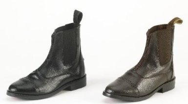 Equi-Star Ladies Synthetic Zip Paddock Paddock Boots - Size:7 1/2 Color:Black