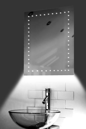 Ambient Ultra-Slim Led Bathroom Mirror With Demister Pad & Sensor K168W