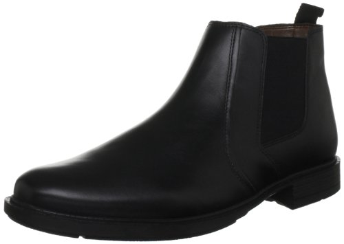 Hush Puppies Men's Courtland 3 Black Leather Pull On Boot H13187000 9 UK, 43 EU