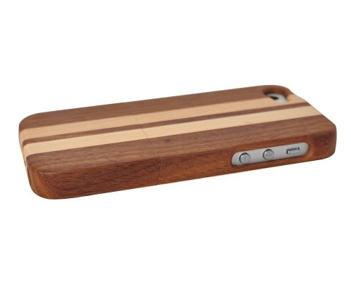 Unique Handmade Natural Wood Wooden Hard bamboo Case Cover for iPhone 5