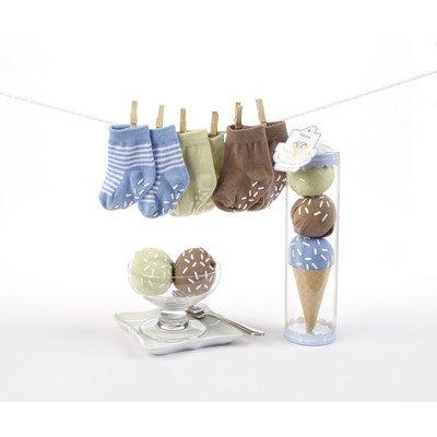 """Sweet Feet"" Three Scoops of Socks Gift Set in Blue - 1"